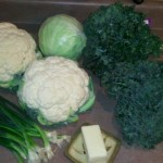 Vegetables for Colcannon