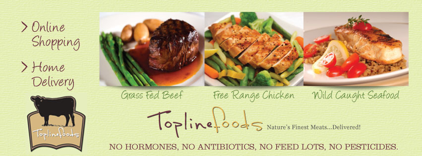 organic grass fed beef and organic chicken and wild caught seafood banner