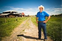 Joel Salatin on his farm